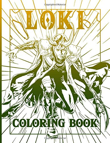 Loki Coloring Book: Perfect Gift An Adult Coloring Book Loki A Perfect Gift