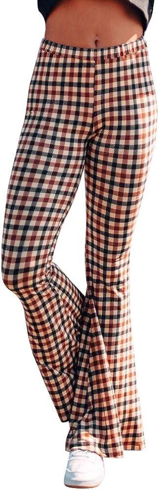 JOFOW Womens Leggings Sweatpants Camo Patchwork Dots Print Casual Stretch Sport Yoga Pants