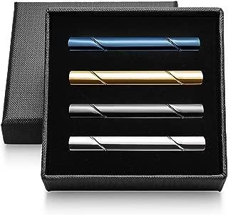 Vignac 4本セット ネクタイピン メンズ ファッション シンプル 日常仕事 結婚式 スーツ ビジネス 真鍮製 タイピン おしゃれ 高級 ギフトボックスを提供 (vic-02-18)