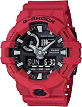 Casio G-shock Ana Digi Red Men's Watch, 200 Meter Water Resistant with Day and Date GA-700-4A