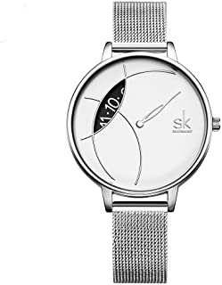 SHENGKE Creative Simplicity Women Watch Mesh Band Elegant Women Watches Ladies Business Wristwatch