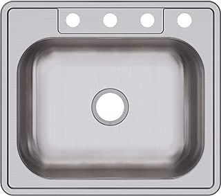 Elkay D125224 Dayton Single Bowl Top Mount Stainless Steel Sink, Four-Hole