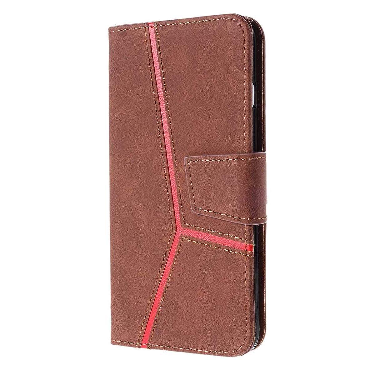 上回るピークメタルラインCUSKING Huawei Mate 20 対応 ケース, 高級 手帳型 PUレザー ケース, Huawei Mate 20 衝撃吸収 保護ケース 財布型 ケース スタンド機能 カード ポケット 付き, ブラウン