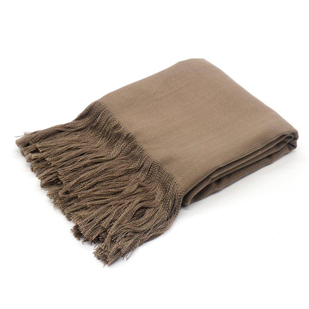 Ropa de cama Mantas y colchas Manta de algodón y Lino Color café Manta de Cama Suave Manta decoración de la casa: Amazon.es: Hogar
