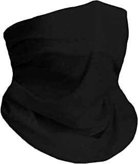 Neck Gaiter Mask Face Reusable, Balaclava Face Cover Scarf Washable for Men and Women, Breathable Fishing Hiking Running Cycling Black Bandana Mask