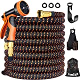 TomCare Garden Hose 50ft Expandable Garden Hose Flexible Car Wash Water Hose with 9 Function Sp…