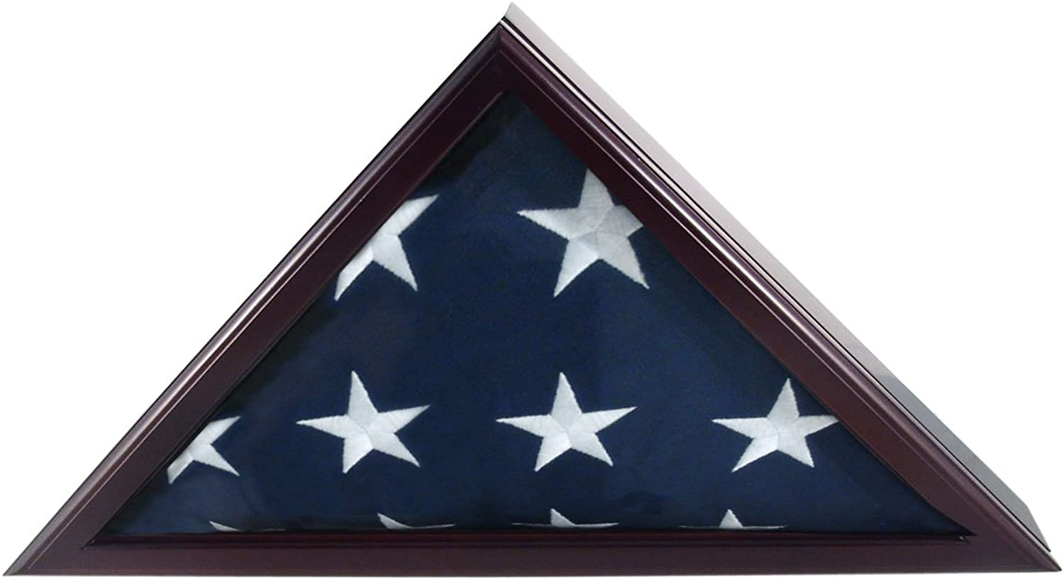 Online Stores Officers Flag and Display Case, 5 by 9.5-Feet, Cherry