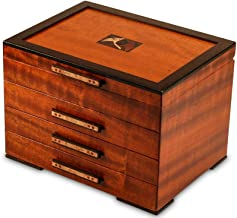 Heartwood Creations Gingko Leaves Jewelry Box - 3 Drawer