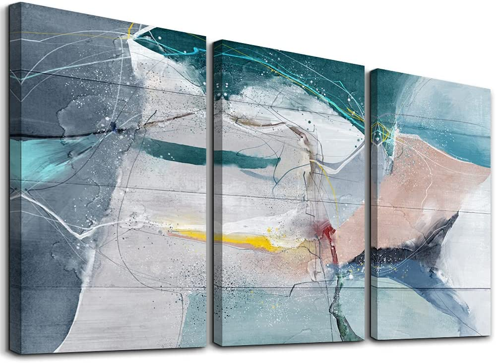 SERIMINO 3 Piece Abstract Max 74% OFF Canvas Wall 2021 spring and summer new Room Bathro Art for Living