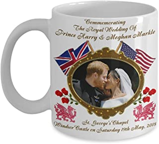 Prince Harry And Meghan Markle Royal Wedding Dragon & Rose Commemorative Coffee Mug