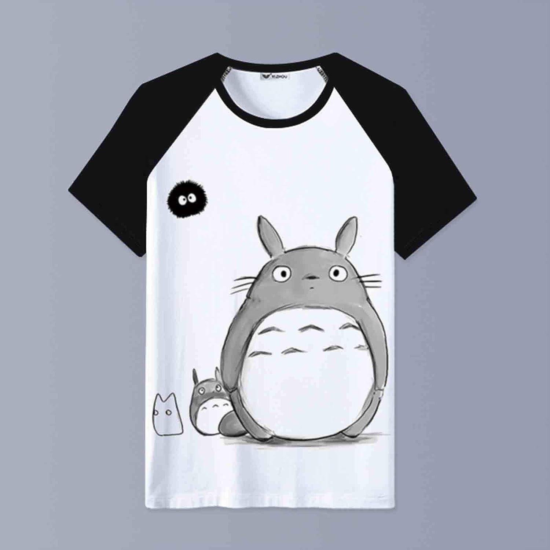 LWOZ My Neighbor Totoro T-Shirt Short Sleeve Boys Girls Teens Short Sleeve 3D Print Graphic T-Shirt Crewneck Summer Shirt Tops,002,Child Code 8