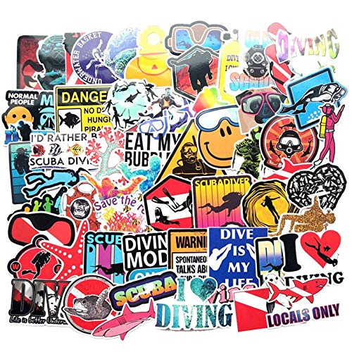 YRBB Sticker Pack 60-delig / Los Outdoor duiken graffitisticker voor auto boot surfplank vinnen zuurstoffles PVC waterdicht sticker