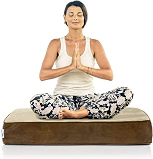 eLuxurySupply Square Floor Pillow - Plush Foam Seat for Kids or Adults - Reading, Meditation, Sitting or Yoga - 2 Sizes, 3 Colors Available