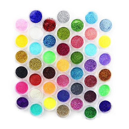 Kuqqi 45 Colors Eyeshadow Nail Art Body Glitter Shimmer Dust