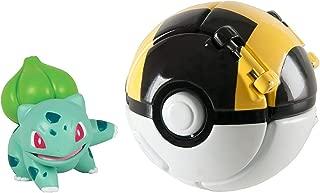 DVNBS Pokémon Throw 'N' Pop Poké Ball, Bulbasaur and Ultra Ball Action Figure Toy for Children's Toy Set (Bulbassur)