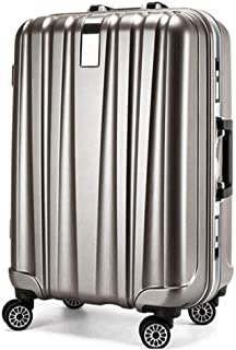 Wear-Resistant Mute Universal Wheel Travel Boarding Luggage Password Trolley case Gray 24 inch
