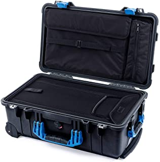 Black & Blue Pelican 1510 case. Laptop Overnight case with Luggage Bottom & Computer lid Pouch.