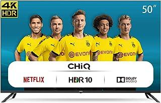 CHiQ Televisor Smart TV LED 50 Pulgadas 4K UHD, HDR 10/HLG, WiFi, Bluetooth (Solo Auriculares y Altavoces), Youtube, Netfl...