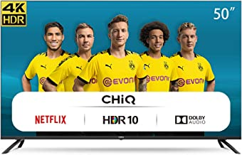 CHiQ U50H7L Rahmenloser UHD Fernseher 50 Zoll TV 4k Randlos Smart TV 126 cm Bilddiagonale..