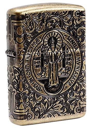 Zippo St Benedict Design Pocket Lighter
