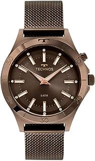 Relógio Technos, Pulseira de Aço Inoxidável, Feminino Marrom Y121E3AE/1M