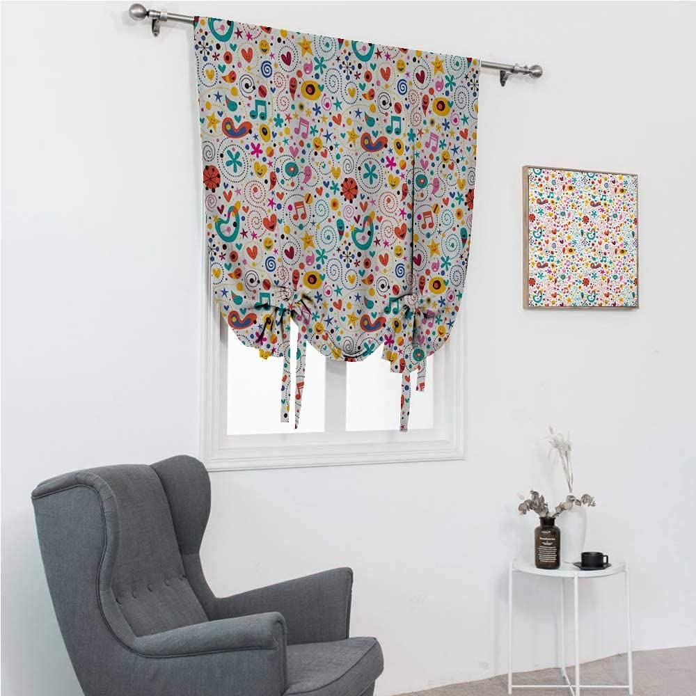 GugeABC Balloon Shades Kids Bathroom Curtain Tie Up Shade Smilin