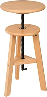 MEEDEN Wood Bar Stool with Adjustable Height,Wooded Drafting Stool,Kitchen Stool,Perfect for Artists Studio,Home Use,Kitchen,Bars.