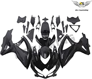 NT FAIRING Glossy Black Injection Mold Fairing kits Fit for Suzuki 2008 2009 2010 GSXR 600 750 K8 08 09 10 GSX-R600 Aftermarket Painted ABS Plastic Motorcycle Bodywork