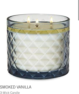 White Barn Bath and Body Works Smoked Vanilla 3-Wick Scented Candle 14.5 Ounce Luxe Faceted Jar