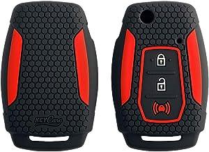 Keycare® Silicone Key Cover for Mahindra XUV300, Alturas G4 flip Key (Black)