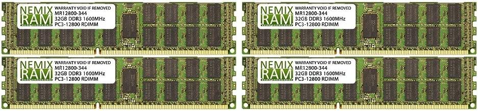 128GB (4x32GB) DDR3-1600MHz PC3-12800 ECC RDIMM 4Rx4 1.5V Registered Memory for Server/Workstation