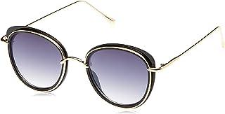 TFL Oval Sunglasses for Women - Black Lens, 16494