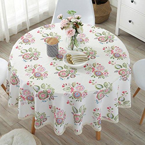 Home-Hotel Restaurant Garten Tischdecke Restaurant Tisch Kaffee Tischdecke Runde Konferenz Tisch Rock Tischdecke (160cm)