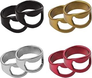 MaKas Stainless Steel Finger Ring Bottle Opener (8 Pack)