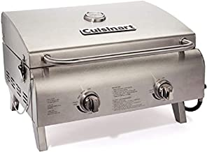Cuisinart CGG-306 Chef's Style Propane Tabletop Grill, Two-Burner, Stainless Steel