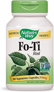Nature's Way Fo-Ti Root 610 mg, 100 Vegetarian Capsules, Pack of 2