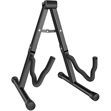 MARTISAN Guitar Stand Folding Universal A frame Stand for All Guitars Acoustic Classic Electric Bass Travel Guitar Stand, Black