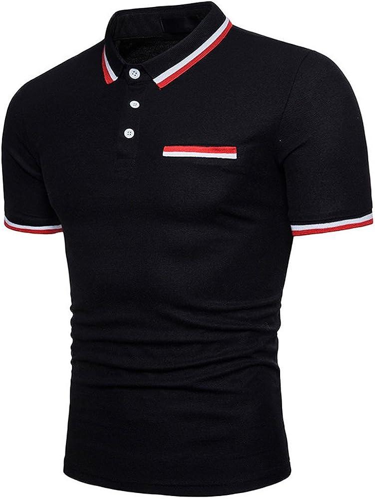 Polo Shirt Oversized trend rank New life VEKDONE Men's Fit Casual Short Sleeve Slim