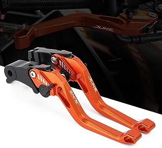 7//20,3/cm 22/mm CNC universale pieghevole in lega di alluminio freno leve frizione Paramani manubrio grip Paramani per KTM Duke RC SM SMC Smr Adventure 390/690/950/990/1190/1290/motocross arancione