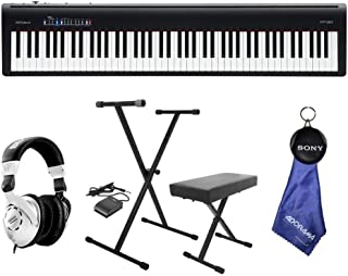 Roland Roland FP-30 Digital Piano with On-Stage Deluxe X-Style Keyboard Bench, Behringer HPS3000 High-Performance Studio Headphones, Microfiber Cloth