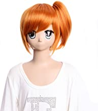 GOOACTION Short Orange Straight Synthetic with a Pigtail Wig for Pokemon Misty Anime Cosplay Costume Hair Wigs