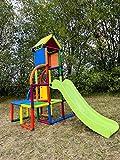 move and stic Toni Spielturm / Spielhaus Kletterturm mit Rutsche für Kleinkinder für Kinderzimmer...