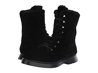 Stuart Weitzman McKenzee Chill (Black Short Shearling) Women