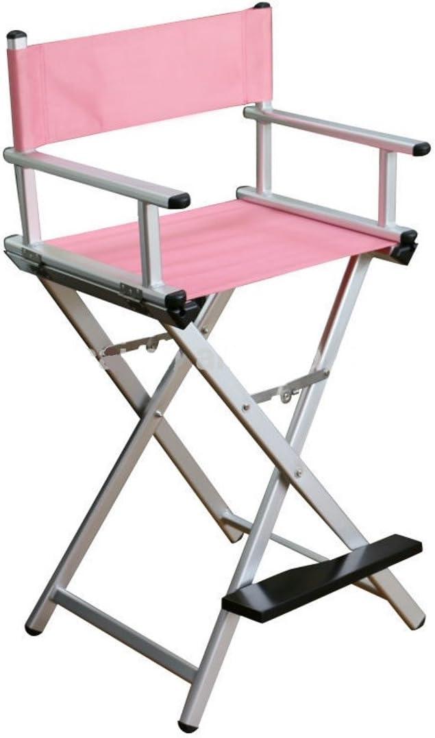 Polironeshop Deva Chaise pliante en aluminium pour maquillage Rose