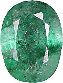 GEMHUB Esmeralda verde de 4,85 quilates, piedra natural certificada brillante, corte ovalado, piedra preciosa suelta de ca...
