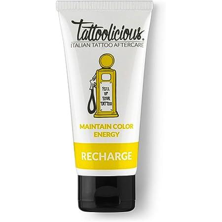 Tattoolicious RECHARGE - Crema di Mantenimento del Tatuaggio, Rivitalizzante, Specifica, con Principi Attivi Bio, 100 ml