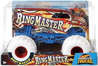 Hot Wheels Dairy Delivery Ring Master Monster Truck, 1:24 Scale