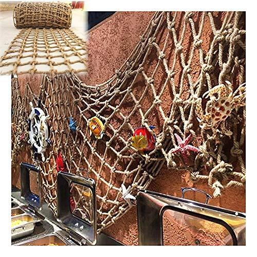 WWWANG Decoración de la red de la cuerda tejida de la cuerda de la red Pasamanos de la red de cáñamo de la imagen de la imagen de la imagen de la pared de la decoración de la pared de la pared, adapta
