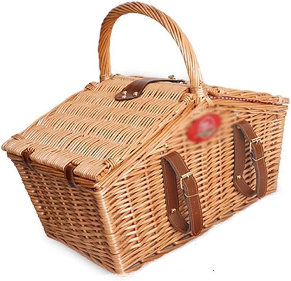 Max 89% OFF BERTY·PUYI Picnic Basket Set 4 Wicker 5 ☆ popular Handmade P Person Large