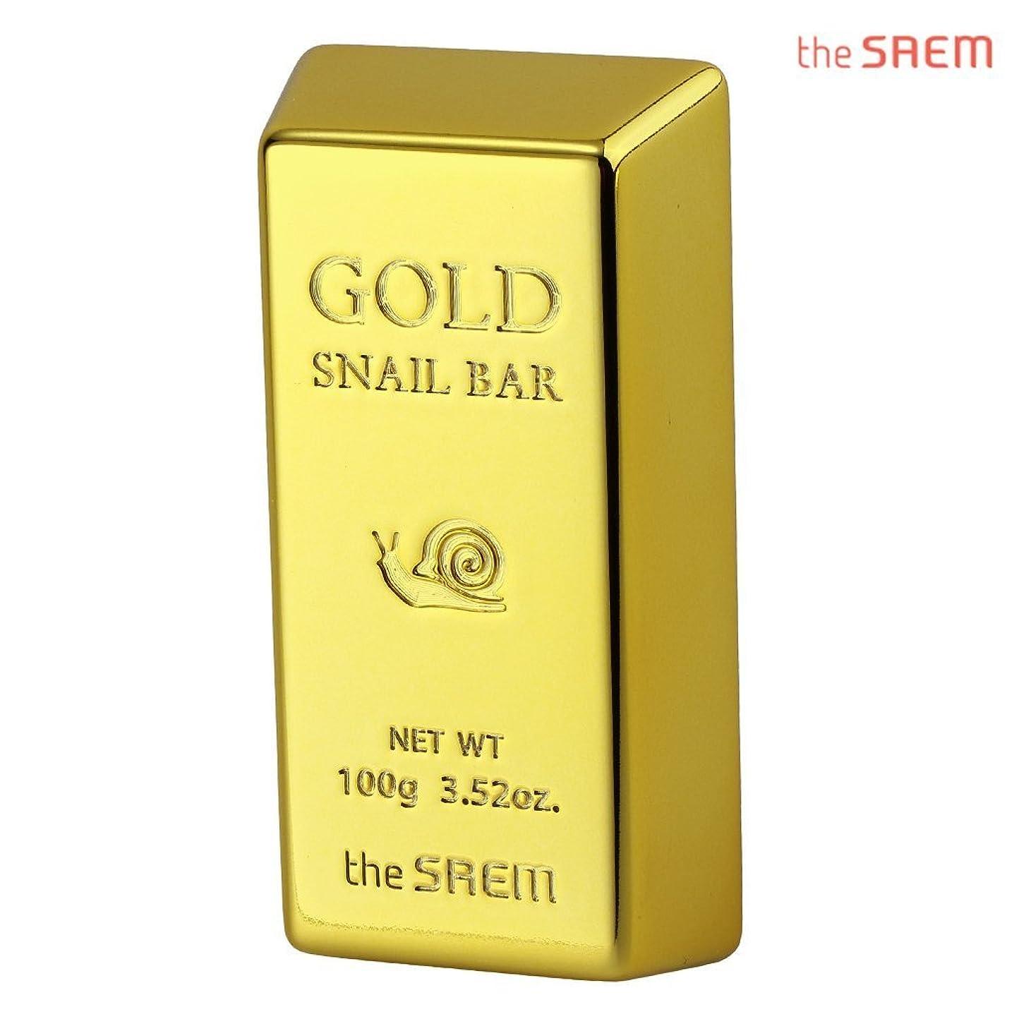失礼な合わせて図The Saem 24K gold snail premium facial soap セーム24Kゴールドカタツムリプレミアムフェイシャルソープ 石鹸 (100g) [海外直送品]